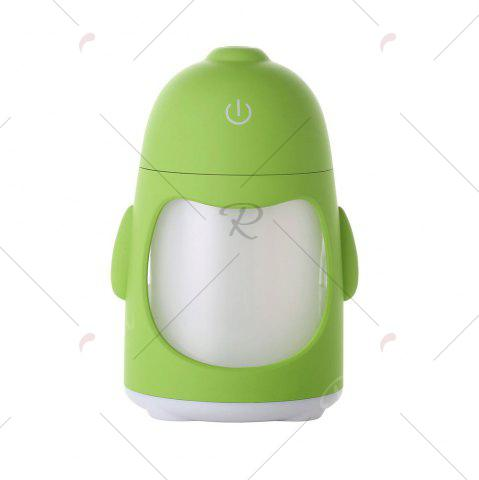 Discount Colorful Night Light USB Rechargeable Penguin Mini Humidifier - GREEN  Mobile