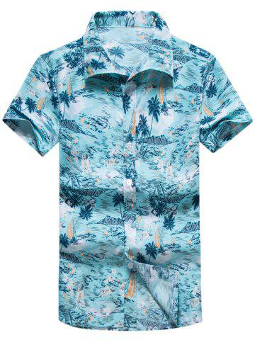 Coconut Palm Printed Hawaiian Shirt