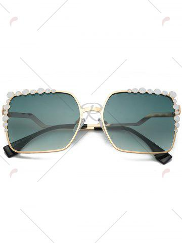 Outfits Rectangle UV Protection Sunglasses with Polka Dot - GREEN  Mobile