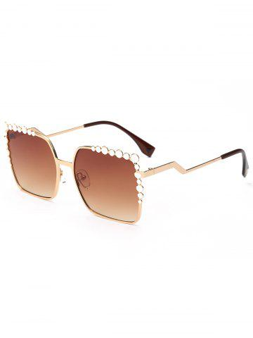 Cheap Rectangle UV Protection Sunglasses with Polka Dot - TEA-COLORED  Mobile