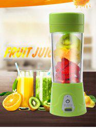 USB Charge Fruit Stirring Healthy Multifunctional Juicer Cup - Vert