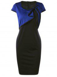 Bowknot Detail Cap Sleeve Pencil Work Dress