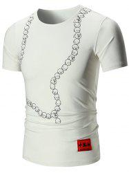My Chinese Heart Patch Face Print T-shirt
