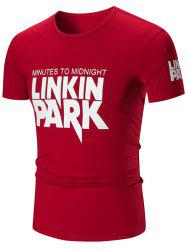 Linkin Park Graphic Slim Fit T-shirt - WINE RED