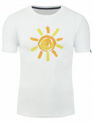 Cartoon Sunshine Print Short Sleeve T-shirt