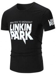 Linkin Park Graphic Slim Fit T-shirt - BLACK