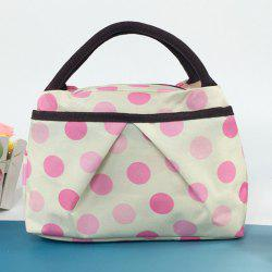 Polka Dot Print Lunch Tote Bag
