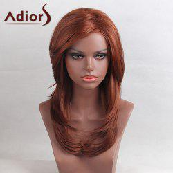 Adiors Long Layered Tail Adduction Side Bang Straight Synthetic Wig