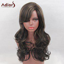 Adiors Long Side Bang Colormix Highlight Layered Curly Synthetic Wig