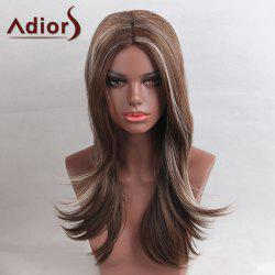 Adiors Long Center Part Colormix Highlight Straight Synthetic Wig