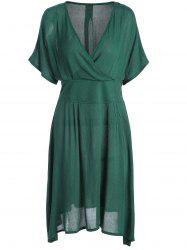 A Line V Neck Plus Size Homecoming Dress