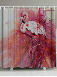 Waterproof Flamingo Shower Curtain with Hooks