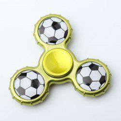 Fidget Toy Football Pattern Sport Hand Spinner - Jaune+ Vert