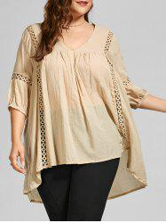 V Neck Casual Plus Size Tunic Top