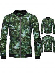 Lion Head Print Camo Jacket