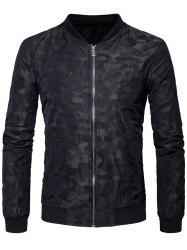Camouflage Zip Up Bomber Jacket