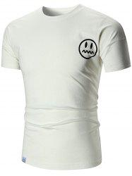 Emoji Short Sleeve Slim Fit T-shirt