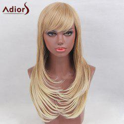 Adiors Long Side Bang Layered Colormix Tail Adduction Straight Synthetic Wig