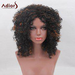 Adiors Medium Shaggy Colormix Afro Curly Synthetic Wig