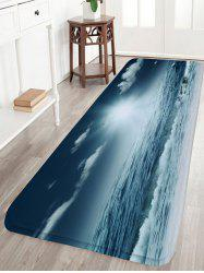 Moonlight Sea Flannel Water Absorption Bath Mat - STONE BLUE
