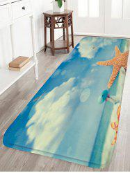 Beach Girl Starfish Flannel Skidproof Rug