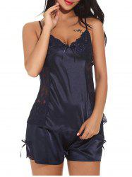 Satin Slip Top with Shorts Sleepwear