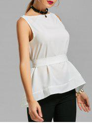 Self Tie Belted Tank Top