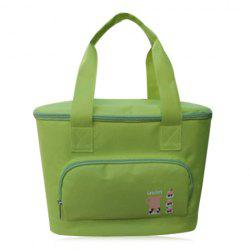 Zip Around Insulated Lunch Bag - GREEN