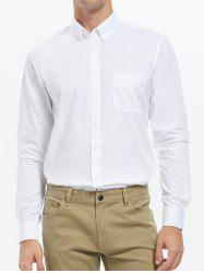 Long Sleeve Button Down Pocket Shirt