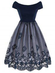 Vintage Lace Panel Overlay Dress