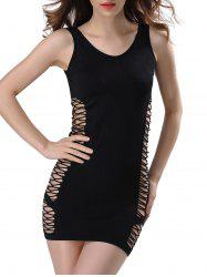 Criss-Cross Cut Out Bodycon Dress