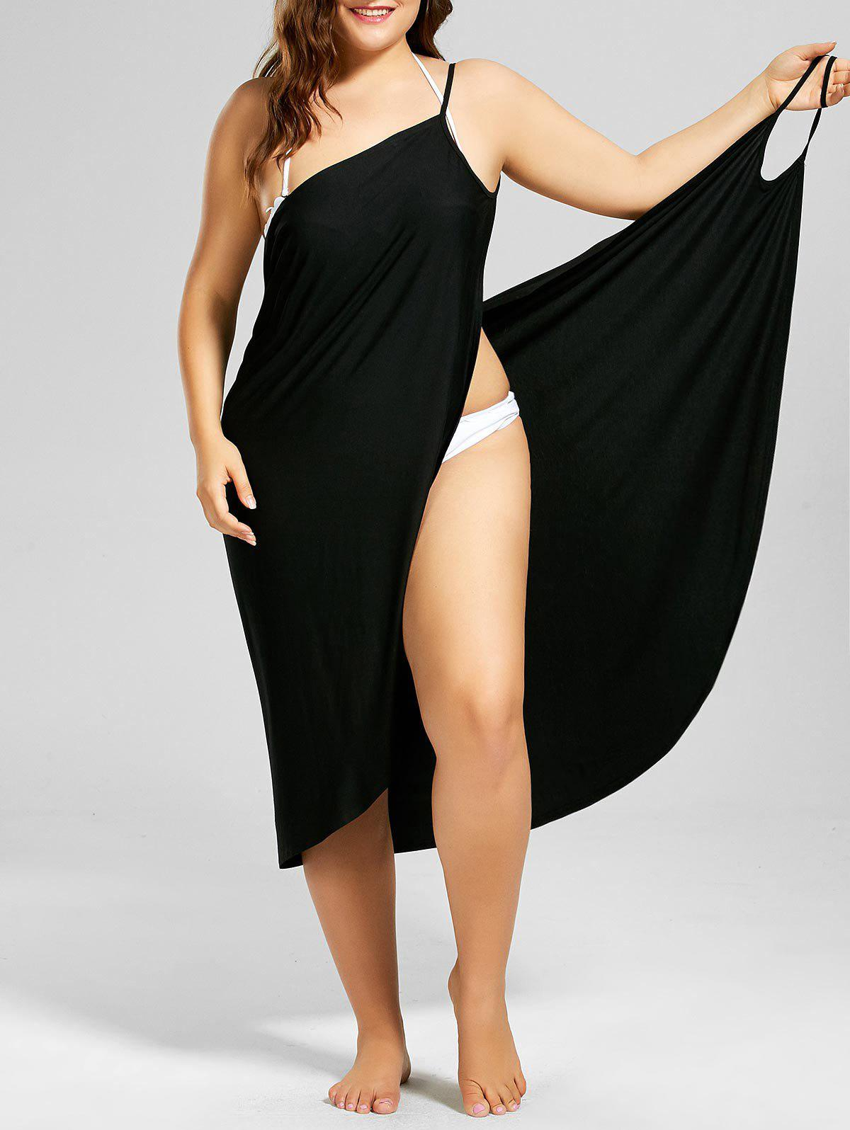 Hot Beach Cover-up Plus Size Wrap Dress