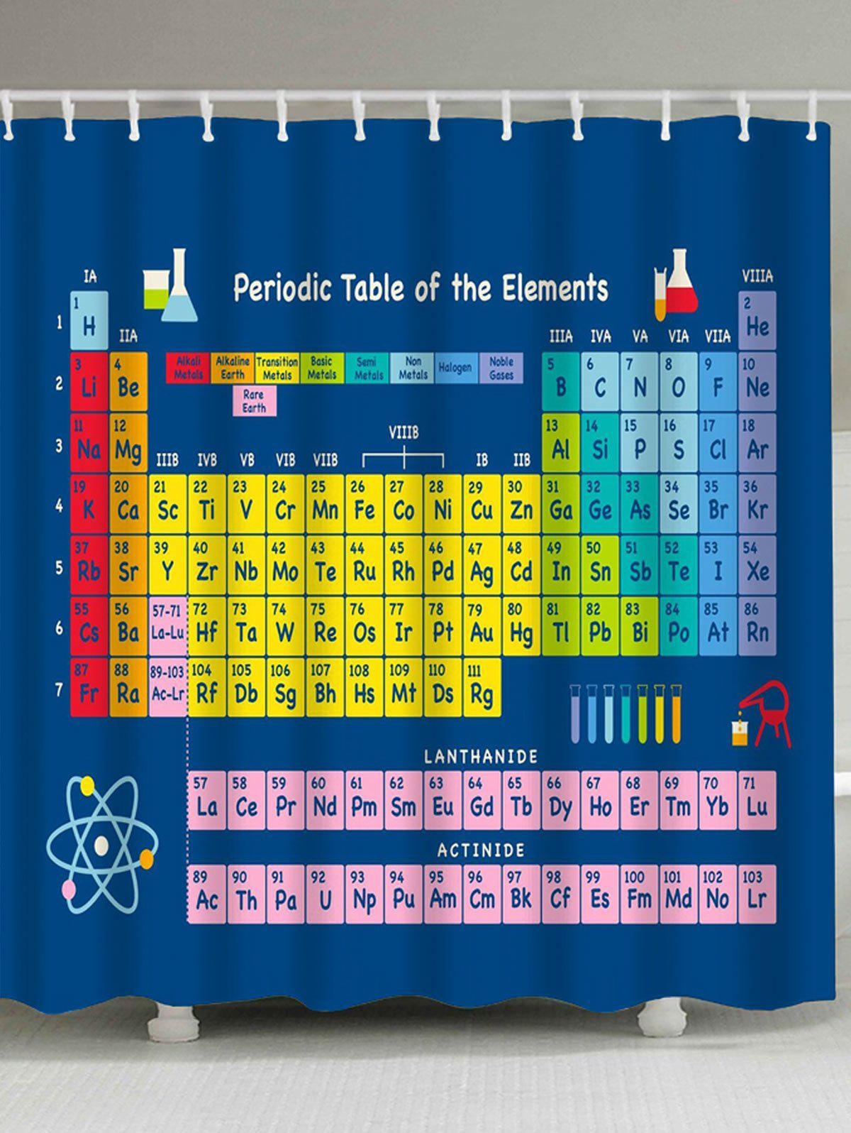 Periodic Table Of Elements Fabric Waterproof Shower Curtain