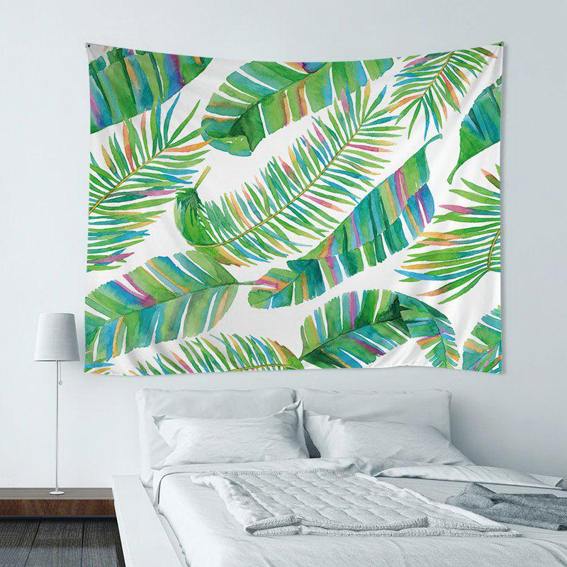 Unique Wall Hanging Art Decoration Tropical Leaf Print Tapestry