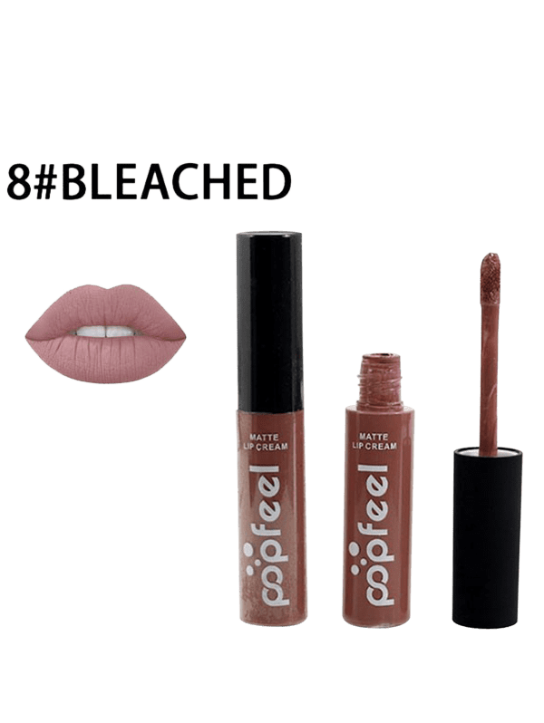 Long Lasting Matte Liquid LipglossBEAUTY<br><br>Color: #08; Category: Lip Gloss; Type: Liquid; Features: Limits Bacteria; Season: Fall,Spring,Summer,Winter; Weight: 0.0400kg; Package Contents: 1 x Lipgloss;