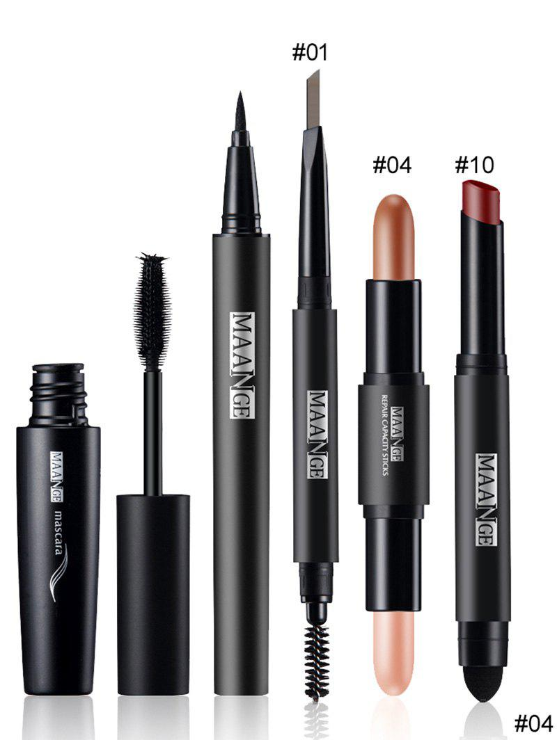 5Pcs Portable Makeup Cosmetics SetBEAUTY<br><br>Color: #04; Category: Other; Type: Other; Features: Limits Bacteria; Season: Fall,Spring,Summer,Winter; Weight: 0.1000kg; Package Contents: 1 x Mascara  1 x Eyeliner Pencil  1 x Eyebrow Pencil  1 x Concealer Pen  1 x Lipstick Pen  1 x Bag;