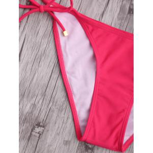 Halter Side Tie Push Up Bikini Set -