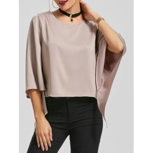Flare Sleeve Blouse with Chocker Necklace