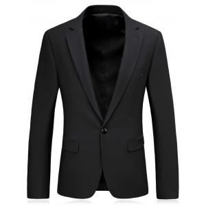 One Button Slim Fit Lapel Blazer and Pants Twinset -