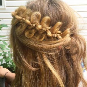 Long Wreath Bow Knot Braid Hair Pieces