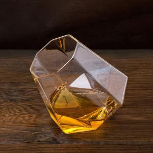 Transparent Glass Diamond Shaped Cup