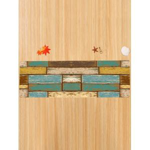 Colormix w24 inch l71 inch vintage wood floor pattern for Indoor outdoor wood flooring