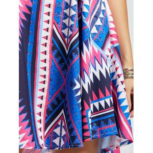 Casual Geometric Print Mini Slip Dress - MULTI M