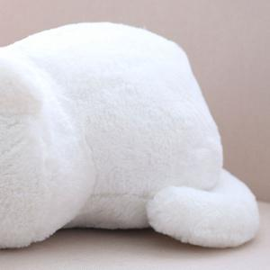Stuffed Toys Cat Back Cushion Throw Pillow - WHITE