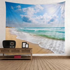 Home Decor Beach Theme Wall Tapestry - Light Blue - W59 Inch * L79 Inch