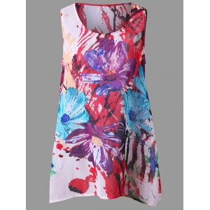 Watercolor Floral Tunic Tank Top