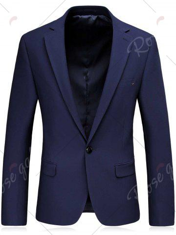 Fashion One Button Slim Fit Lapel Blazer and Pants Twinset - 3XL BLUE Mobile