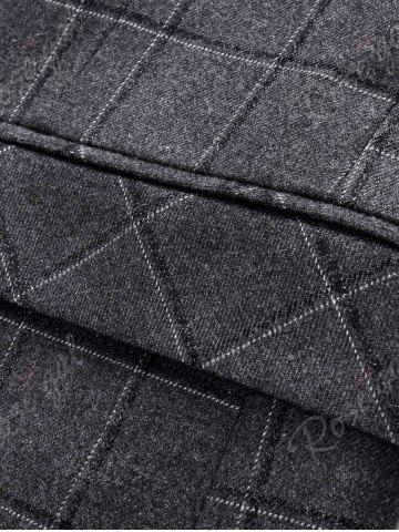 Outfits Single Breasted Plaid Three-Piece Suit ( Blazer + Waistcoat + Pants ) - M LIGHT GRAY Mobile