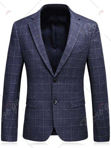 Discount Single Breasted Plaid Three-Piece Suit ( Blazer + Waistcoat + Pants ) - 3XL DEEP GRAY Mobile