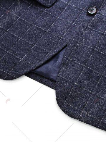 Trendy Single Breasted Plaid Three-Piece Suit ( Blazer + Waistcoat + Pants ) - 3XL DEEP GRAY Mobile
